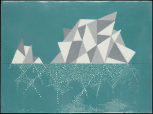 K Snow -Encaustic Iceberg