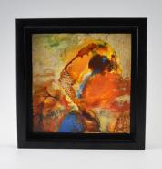 "Lynn Bland, (TN), ""Close to the Sun"", 7.75 x 7.75 in., Encaustic Medium"