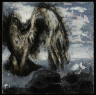"""Skye MacLeod, (CA),  """"All You Have To Do"""", 24 x 24 in., Encaustic oil paint, graphite, pan pastels"""