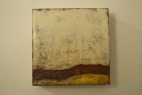 """Kimberly Rohrs, (OH), """"Resurgence No. 2"""", 6 x 6 in., Encaustic and Mixed Media"""