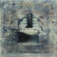 """Karen Hymer, (AZ), """"Untitled #1"""", Inner Spaces Series, 12 x 12 in., Encaustic and Photography"""