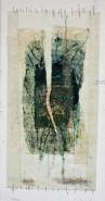 """Arlene Gale Milgram, (NJ), """"Torn"""", 24 x 12, Encaustic Mixed Media"""