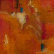 """Kellie Weeks, (MA), """"I Dreamt of Red"""", 30 x 30 in., Encaustic"""