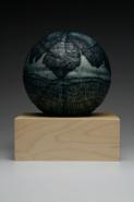 "Gina Adams, (KS), ""Honoring Modern .7"", 11 x 11x 11 in., Encaustic and Oil on Ceramic"