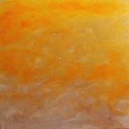 "Debra Van Tuinen, (WA), ""Skyscape I"", Encaustic on Canvas and Wood Panel"