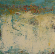"""Cindy Walton, (NC), """"Windswept"""", 20 x 20 in., Cold Wax Medium, Oil Paint, Ink, Graphite, Mixed Media"""