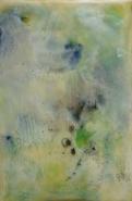 "Ahavani Mullen, (IL), ""Breath"", 9 x 6 in., Encaustic Mixed Media on Panel"