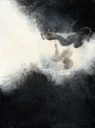 """Candace Law, (MI), """"Embryonic"""", 16 x 12 in., Encaustic, sumi ink on Paper"""